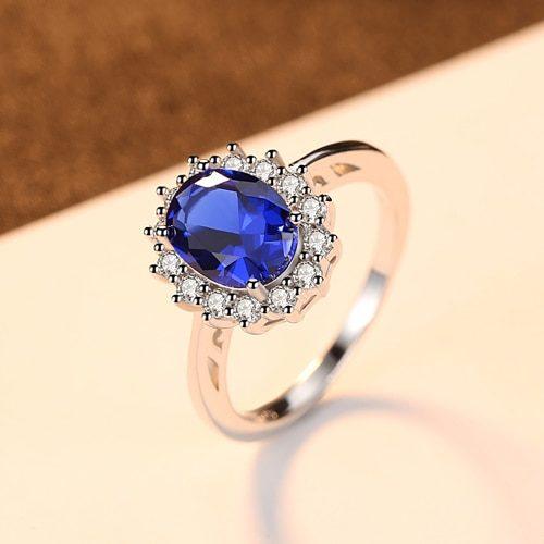 Sapphire Ring Women's Jewelry