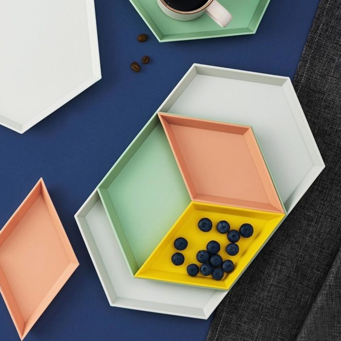 Snack Tray Stackable Geometric Shapes