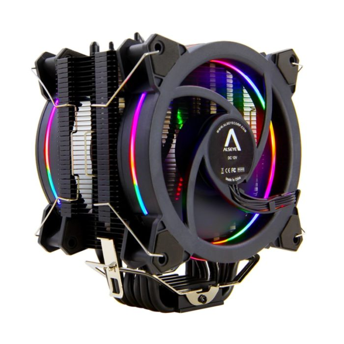 CPU Cooler Rainbow Color Dual Fan
