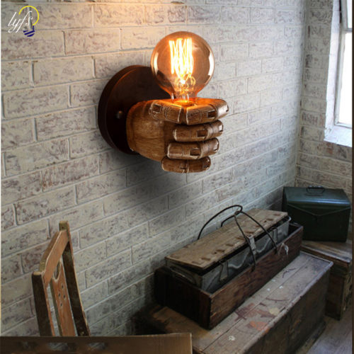 Wall Lamp Resin Fist Decoration Lights