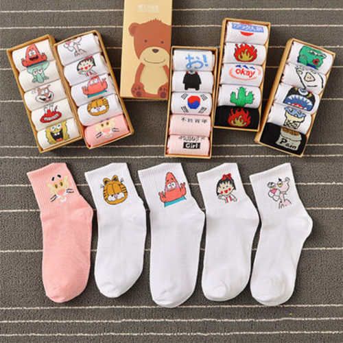 Cool Socks Cotton Footwear (5 pairs)