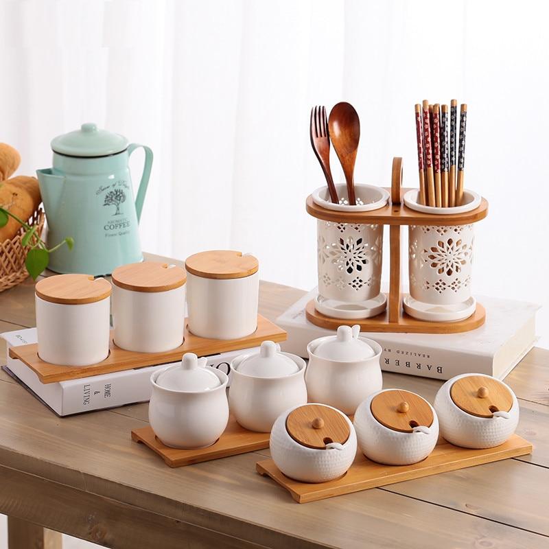 Kitchen Storage Jars Ceramic Jar Set