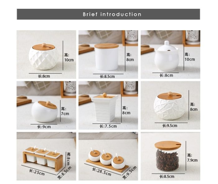 Kitchen Storage Jars Ceramic Jar Set