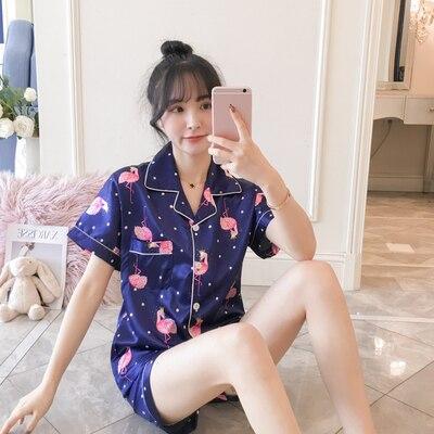 Silk Pajama Set Women's Sleepwear