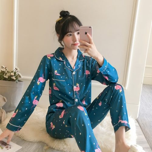 Silk Pajama Set Women's Sleepwear