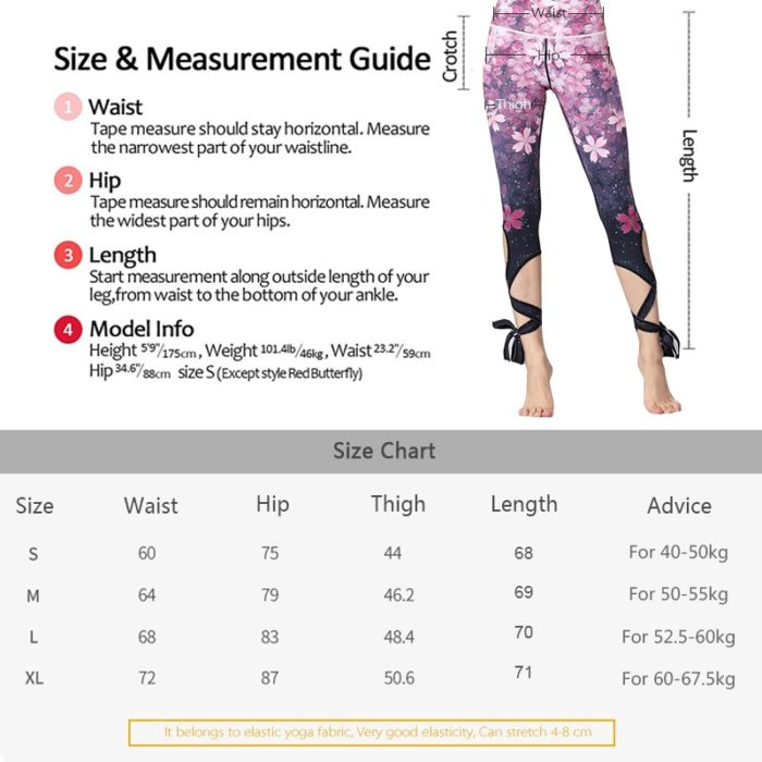 Workout Tights Flower Print Leggings