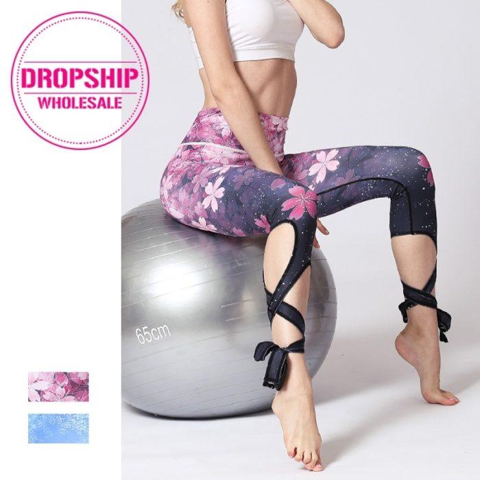 Workout Tights Flower Print Leggings