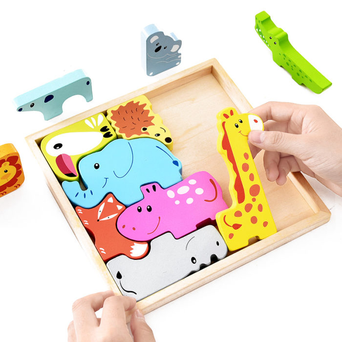 Wooden Puzzle For Kids 3D Animals