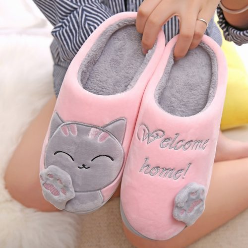 House Slippers Cute Cat Design