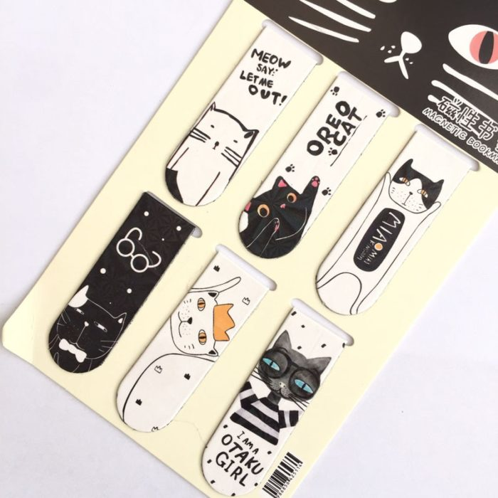 Magnetic Bookmark Set Paper Clip