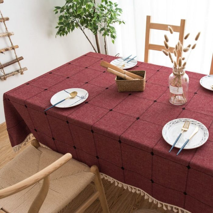 Linen Tablecloth Rectangle Square Table