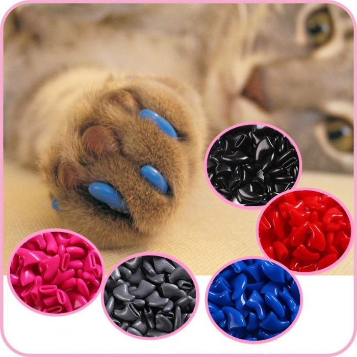 Cat Nail Caps Soft Rubber Covering (100 pcs)