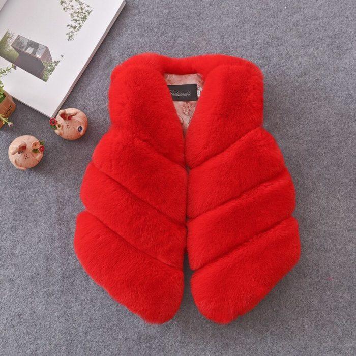 Faux Fur Vest Kids Fashionwear