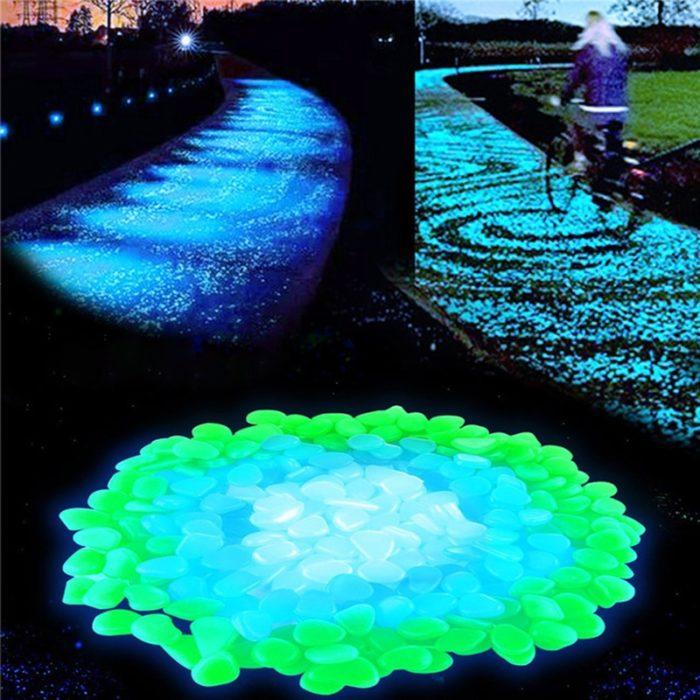 Glow In The Dark Pebbles 100PC Set