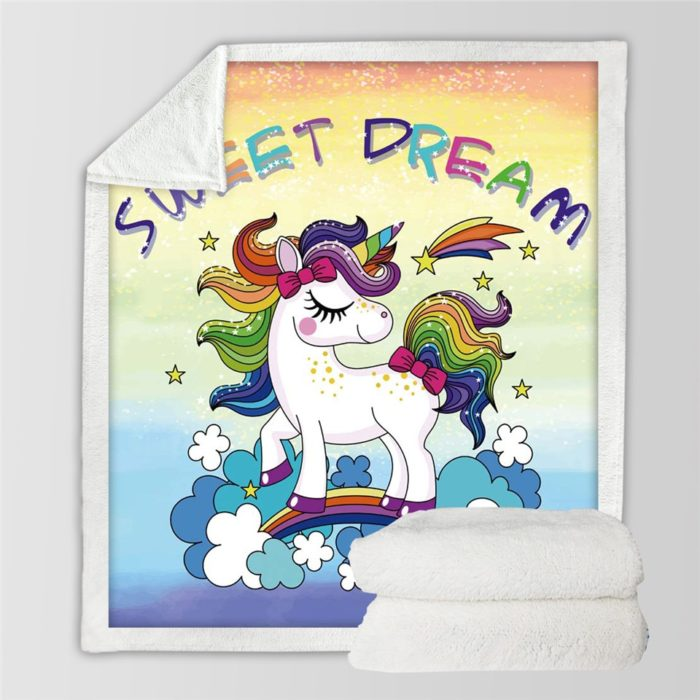 Unicorn Blanket Kids Bed Linen