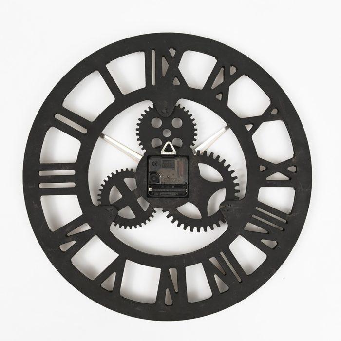 Rustic Clock Decorative Roman Numerals