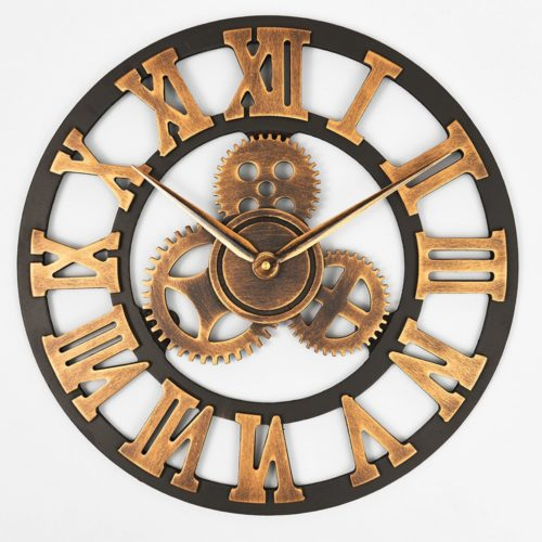 Rustic Clock Decorative Roman Numerals