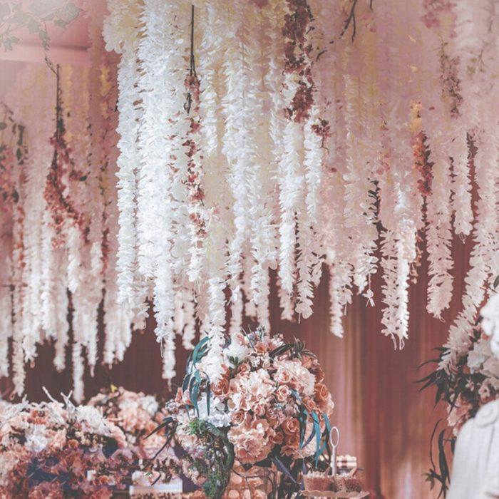Flower Garland Decorative Silk Flowers