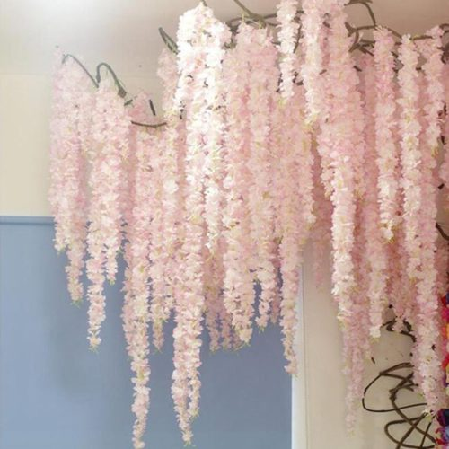 Flower Garland Decorative Silk Flowers