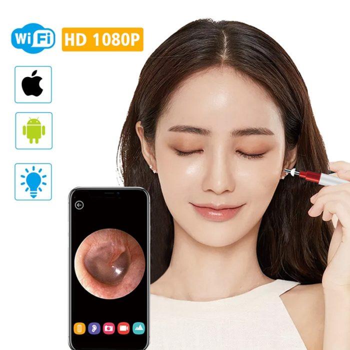 Ear Cleaning Tools HD WiFi Otoscope