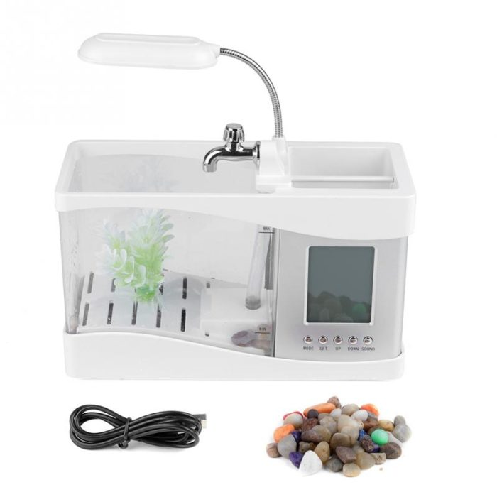 Mini Aquarium with LED Lamp