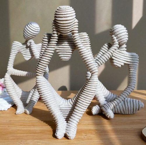 Abstract Sculpture Resin Home Decor
