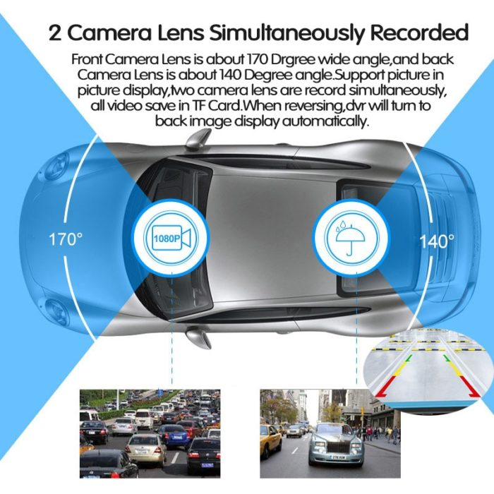 Dual Dash Cam Touch Screen Recorder