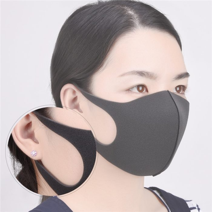 Black Mouth Mask Sponge Mask (3 Pieces)