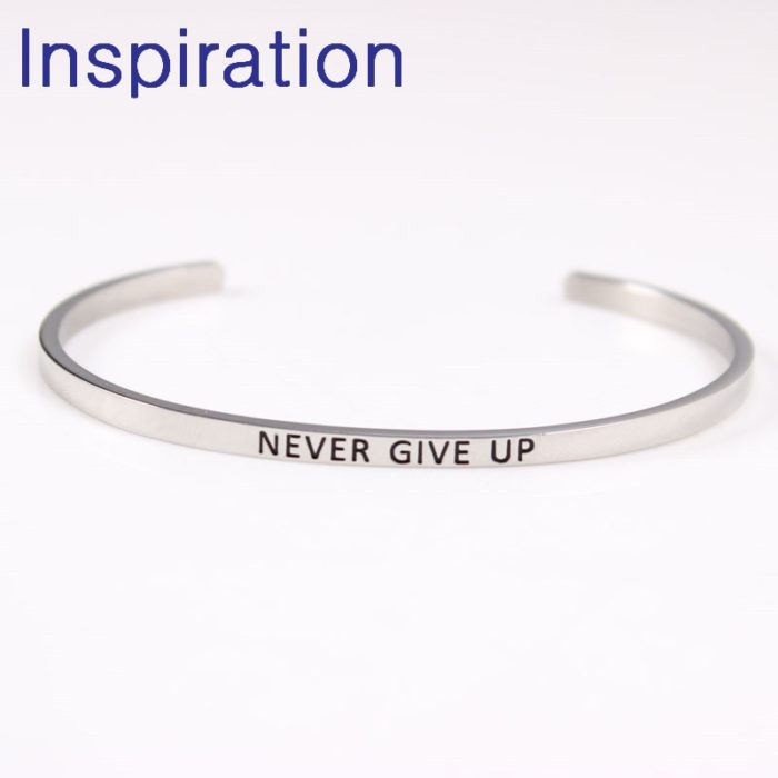 Inspirational Bracelets Engraved Positive Quotes