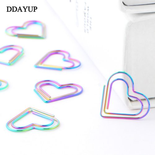 Paper Clips Heart Shaped Memo Clip