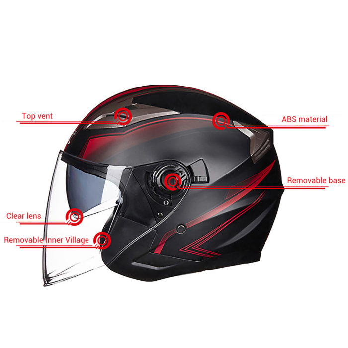 Open Face Helmet Motorcycle Headgear