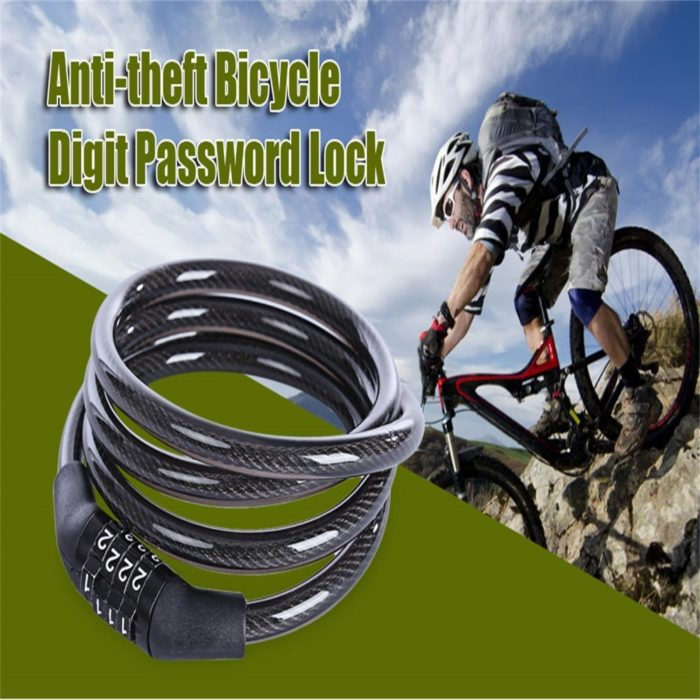 Bike Chain Lock Anti-Theft Cable