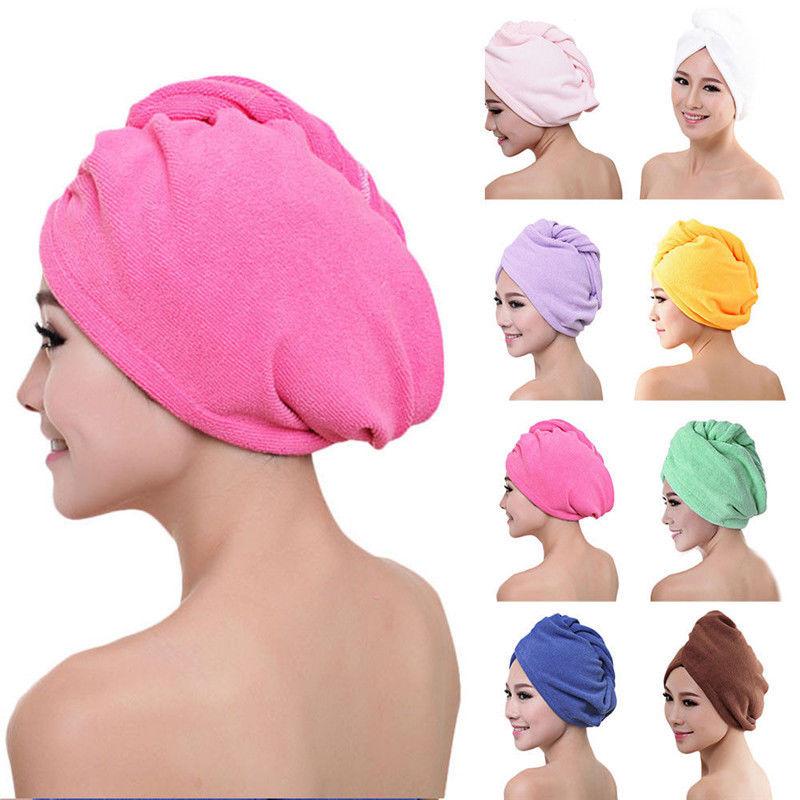 FINE LIFE MICROFIBRE HAIR DRYING WRAP QUICK DRY CAP TURBAN TOWEL BATH ESSENTIAL