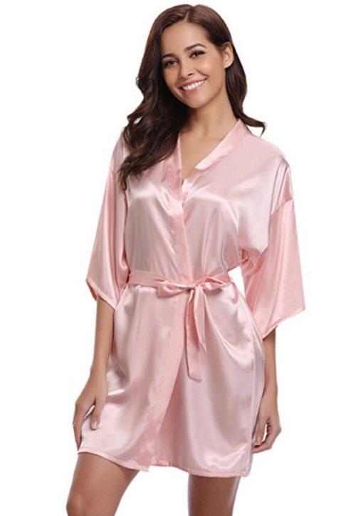 Kimono Robe Satin Bathrobe