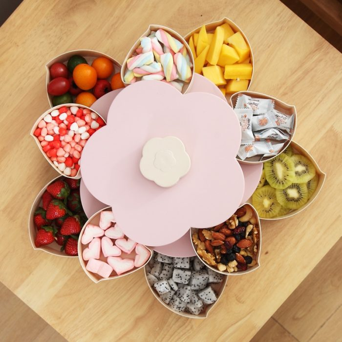 Dessert Box Flower Candy Fruit Server