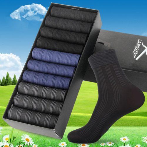 Men Socks Breathable Business Socks