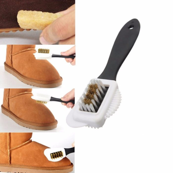 Suede Brush 3-Sided Cleaning Tool
