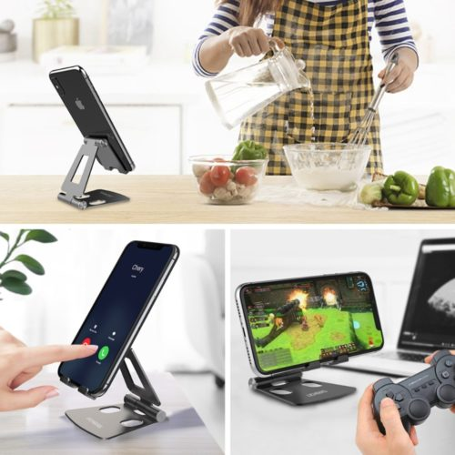 A Cell Phone Holder for desk is a portable stand that can hold your device properly. Similarly, this kind of material allows you to watch some