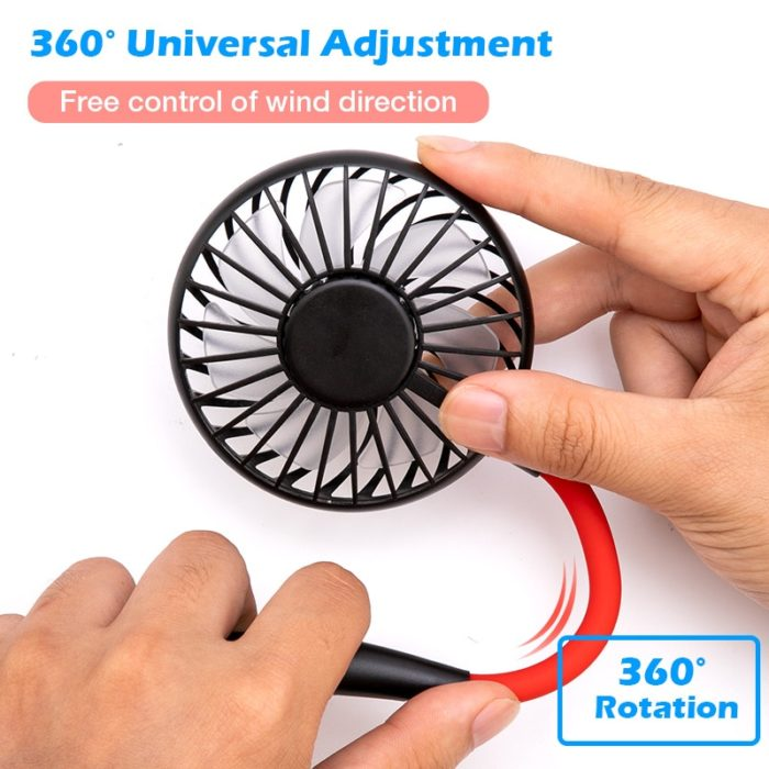 Portable Fan Rechargeable Neckband