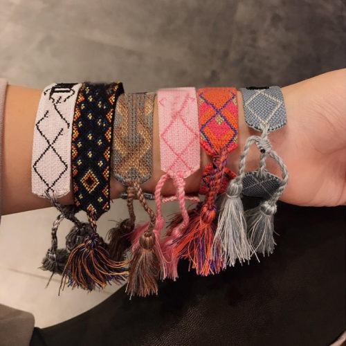 Woven Bracelet Embroided Strap