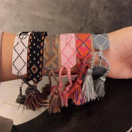 Woven Bracelet Embroided Strap