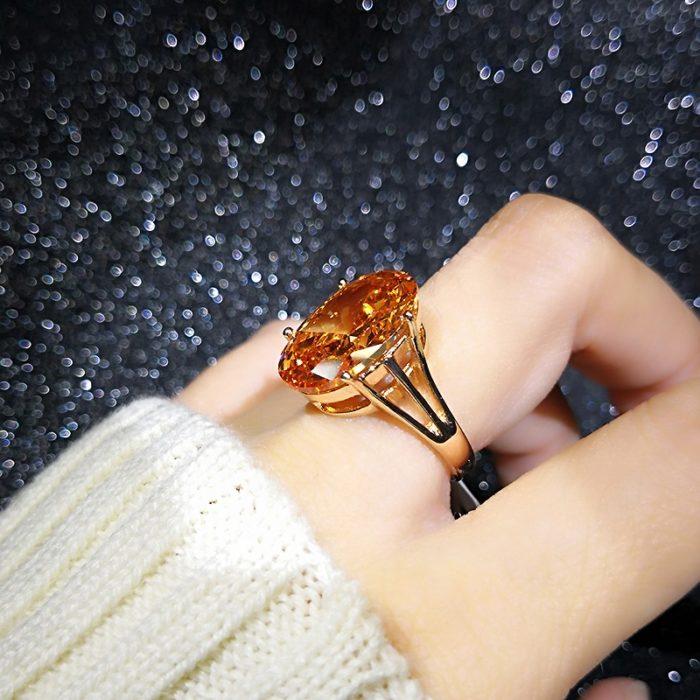 Fancy Ring Rose Gold Women Jewelry