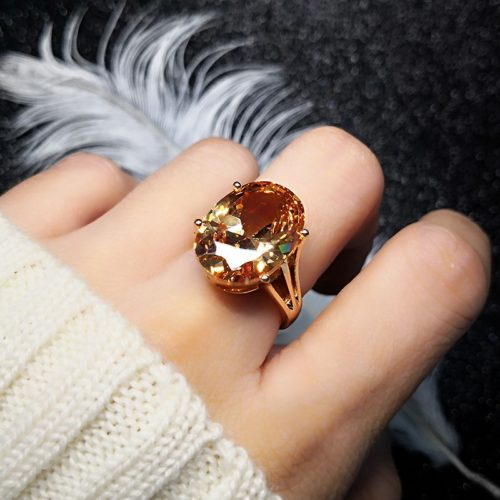 Fancy Ring Rose Gold Women Jewelry
