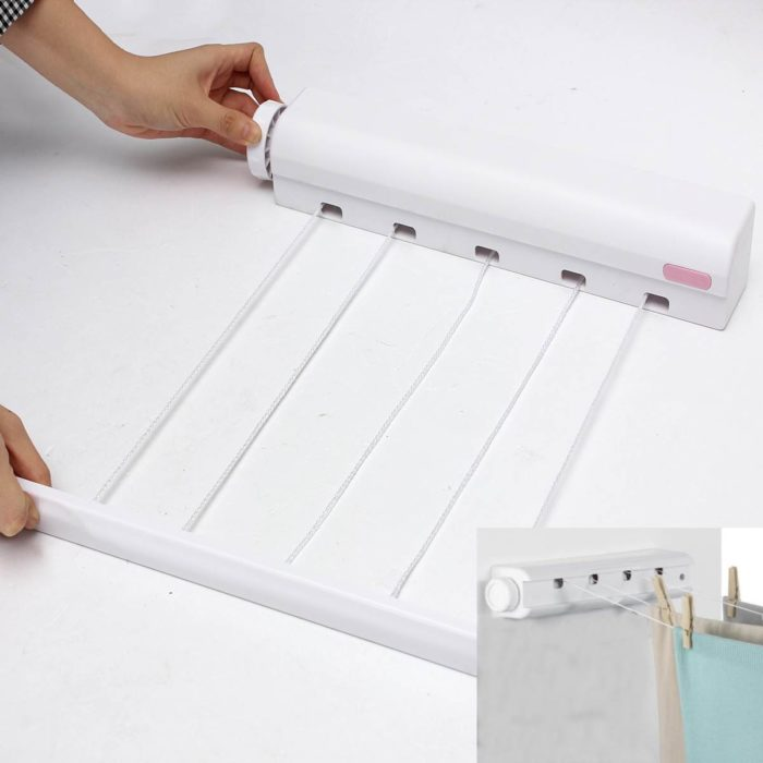 Clothes Drying Rack Retractable Tool