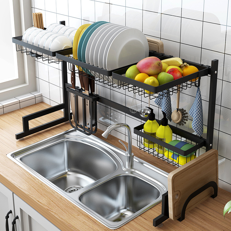 Stainless Steel Dish Rack Kitchen Organizer Life Changing Products