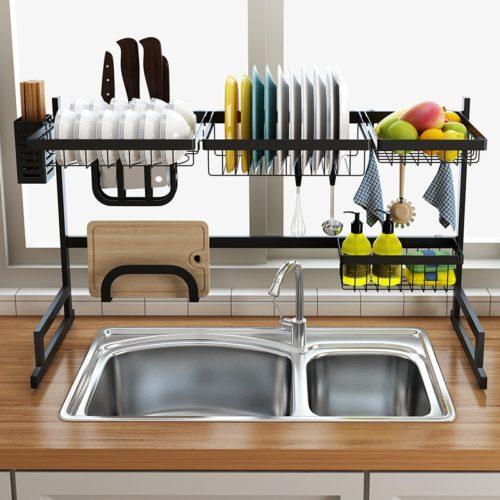 Stainless Steel Dish Rack Kitchen Organizer