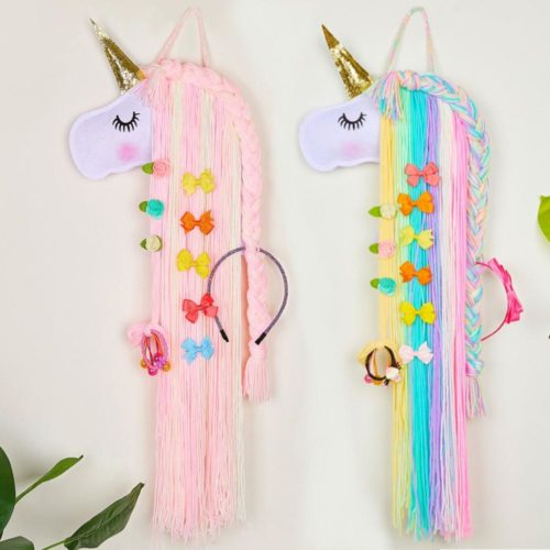 Hair Bow Holder Hanging Unicorn Design