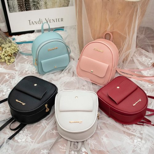 Korean Backpack Mini Leather Bag