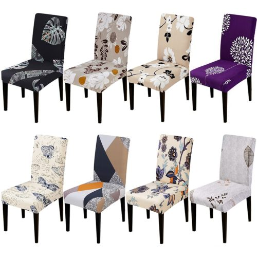 Dining Chair Cover Elastic Printed Cloth