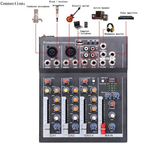 Sound Mixer Mini Portable Device